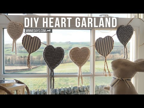 DIY Heart Garland | Budget Friendly