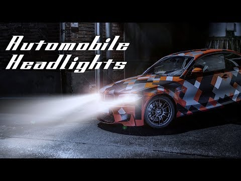 Photoshop Tutorial for CS6 & later: How to Turn On Automobile Headlights!