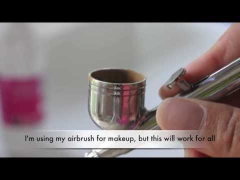 How to: Clean your airbrush, and re assemble it