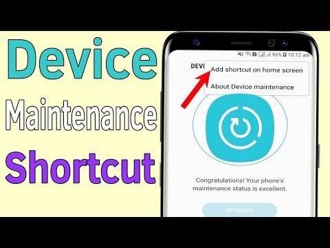 Device Maintenance : How to Create Device Maintenance Shortcut on Home Screen - Helping Mind