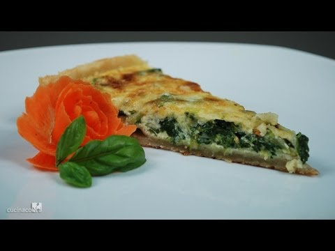 Chard and scamorza quiche