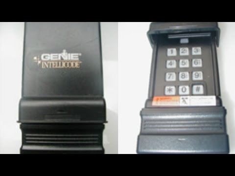 Reset & Program Genie Wireless Keypad-IC Black Model