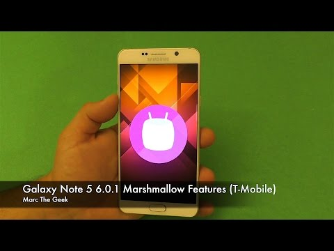 Galaxy Note 5 Marshmallow 6.0.1 Features (T-Mobile)