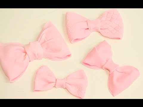 how to make the QUICKEST & EASIEST FONDANT BOWS! | Its A Piece Of Cake