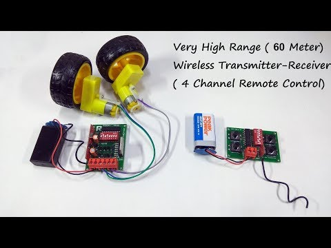 Wireless Remote Control System for RC Car/Boat/Plane - Long Range Receiver Transmitter for RC Toys