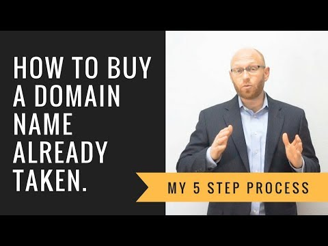 5 Step Process to Buying a Domain Name