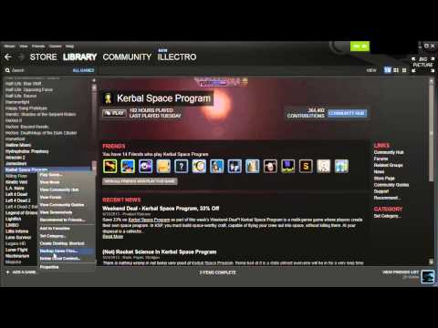 Kerbal Space Program - How To Backup Your Old Versions On Steam