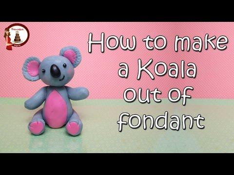 Koala Cake Topper out of Fondant