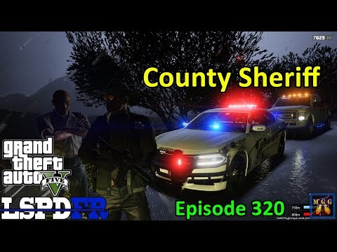 2018 Dodge Charger Sheriff Patrol During a Stormy Night | GTA 5 LSPDFR Episode 320
