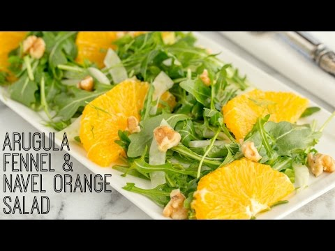 How To Make Arugula Salad with Fennel and Navel Orange (Recipe) フェネルとネーブルオレンジのルッコラサラダの作り方 (レシピ)