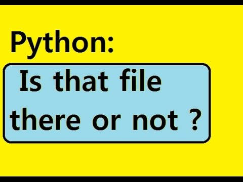 Python: Test if file is there, open, print it out