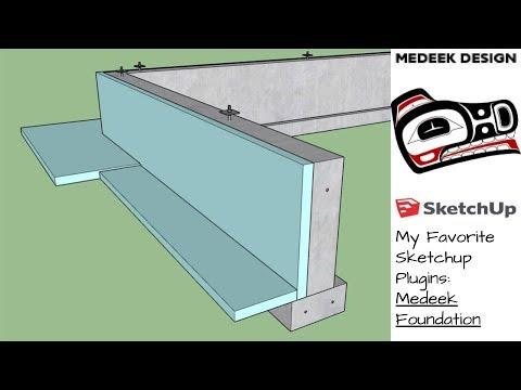 My Favorite Sketchup Plugins: Medeek Foundation Plugin