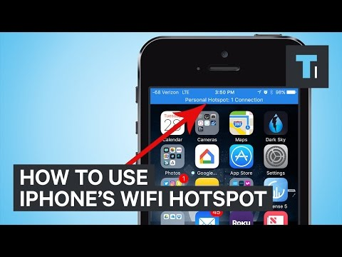 How to use your iPhone as a WiFi hotspot