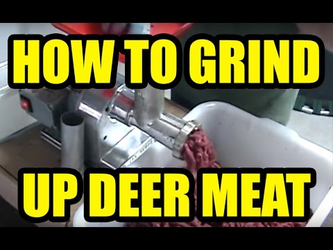 How to grind up deer meat