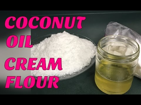 HOW TO MAKE COCONUT CREAM//OIL//FLOUR