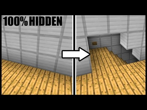 Fully Hidden OPENING WALL & STAIRCASE! - Minecraft Tutorial