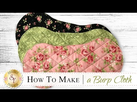 How to Make a Flannel Burp Cloth | a Shabby Fabrics Sewing Tutorial