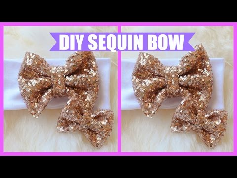 DIY: How to Make a Sequin Bow (Simple & Easy)