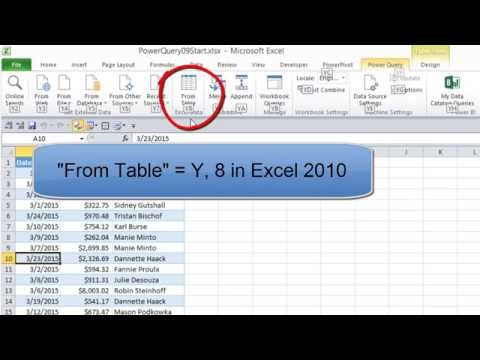 Excel Power Query #09: Merge Multiple Worksheets in Workbook To New Table using Append Feature