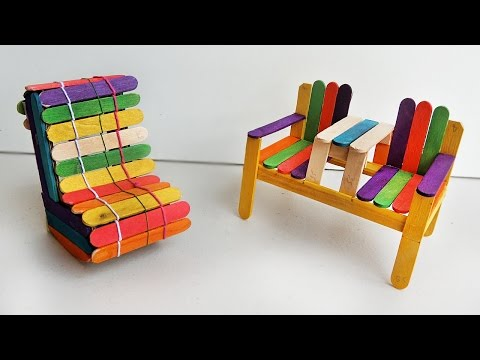 How to make Deck Chairs | Popsicle stick Crafts