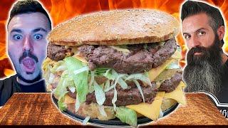 Big Mac de 5kg!!! SI NO ME LO COMO ME BEBO UN CHUPITO DE BOVRIL! - El Pirata VS Joe Burgerchallenge