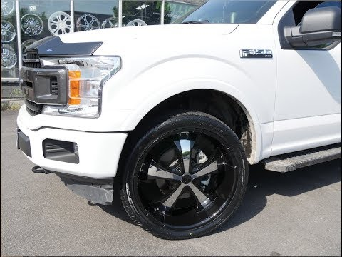 2018 FORD F150 SPORT WITH 24 INCH BLACK RIMS & TIRES