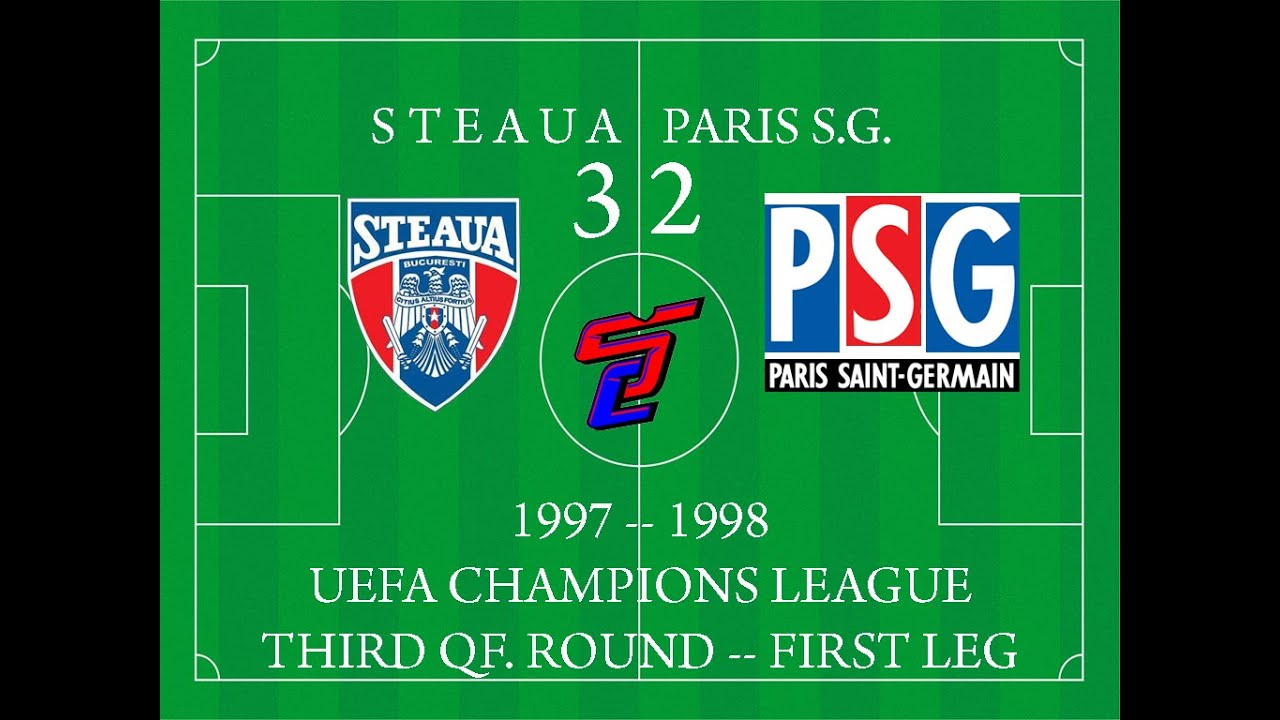 Steaua 3-2 Paris Saint Germain (3-0 after UEFA decision; 1997/1998 UCL)