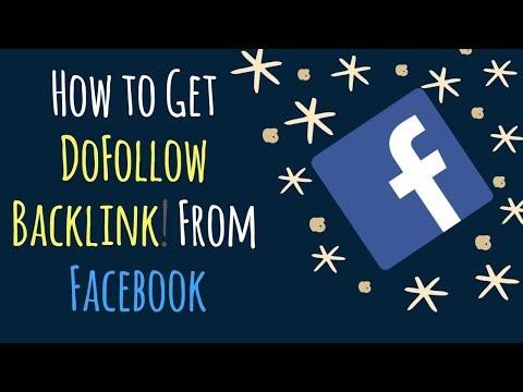 How to Get DoFollow Backlink! From Facebook - PR9 Backlink