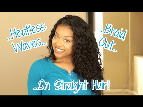 Heatless Waves :: Braidout On Straight Hair