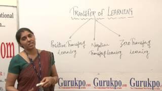 Transfer of learning(B.ed, M.ed) by Meenakshi Sharma