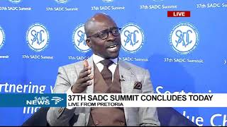 Minister of Finance Malusi Gigaba at the 37th SADC Summit