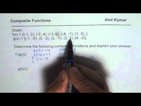 Easy Steps to Create Composite Functions From Given Set of Points