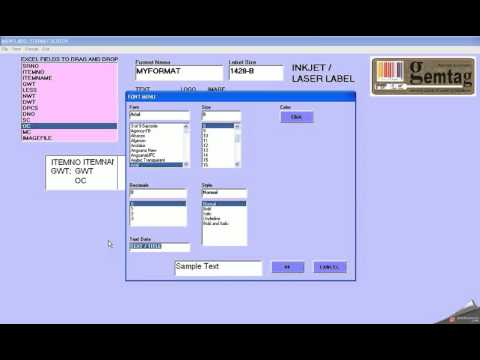 HOW TO MAKE A NEW FORMAT IN LABEL PRINTING SOFTWARE GEMTAG