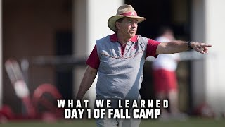What we learned from the first day of fall camp