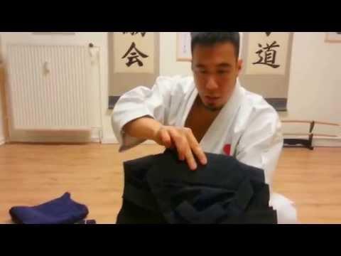 Ryan Hayashi - Video Lesson #43 - How To Fold Hakama & Wear Kaku Obi