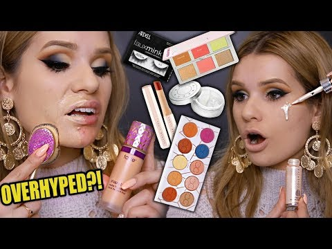 Full Face TESTING NEW VIRAL Makeup! Worth the HYPE?!