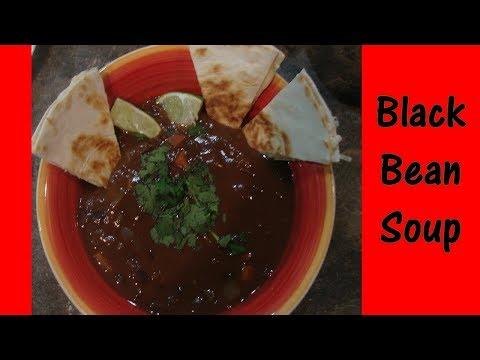 Creamy Black Bean Soup//Oil Free