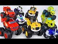 Blaze And The Monster Machines Slam amp Go Transformed Into A Big Wheel Car DuDuPopTOY