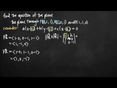 Equation of the plane using vectors (KristaKingMath)