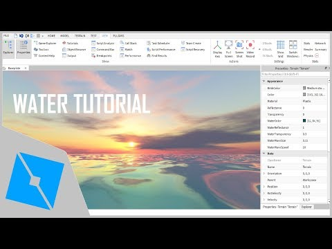 ROBLOX Tutorial | Water Tutorial