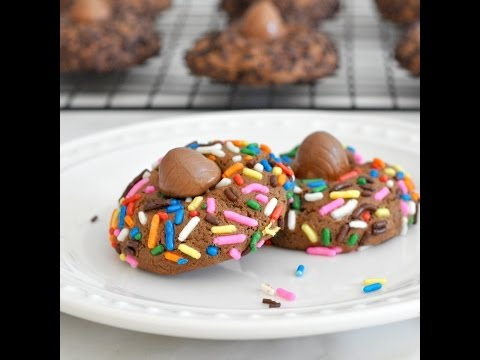 Chocolate Egg Thumbprint Cookies by Cooking with Manuela