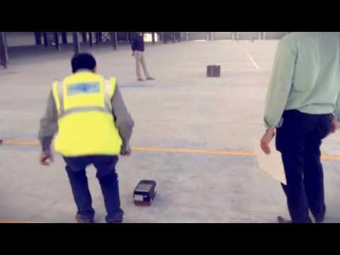Surveying floor flatness using FLOORPRO  (Created with @Mag