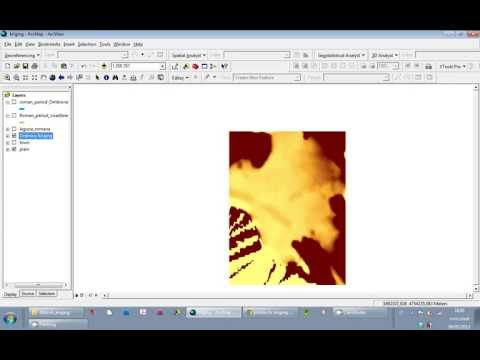 Tutorial ArcGIS 9.3: Kriging to contour map part 1