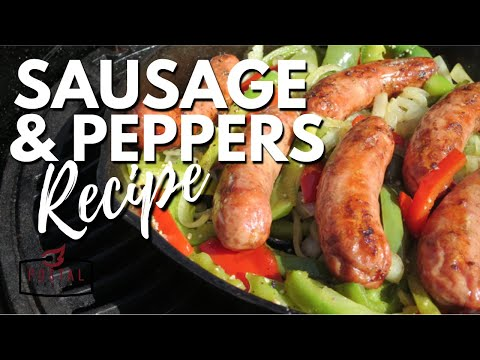 Grilled Sausage and Peppers Sandwich - How to Make Sausage and Peppers On The Grill Recipe