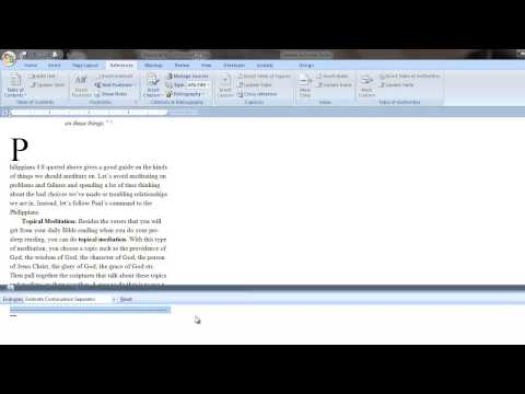Remove line separator from endnote or footnote in Word 2007 and 2010