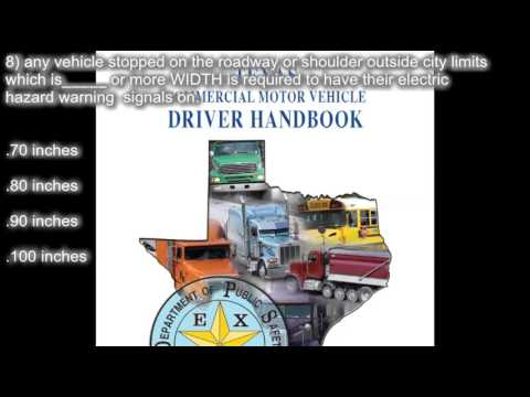 Texas CDL handbook section 14: special requirements practice test