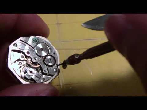 How I Fit a stem to a wrist watch, Illinois Watch Company