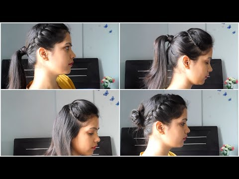 4 Quick And Easy Summer Hairstyle At Home| Everyday heatless hairstyle ||TipsToTop By Shalini