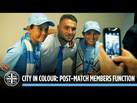 Post-Match Members Function: CITY IN COLOUR