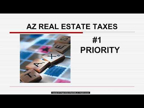 AZ Real Estate Taxes Arizona Real Estate License Exam Prep